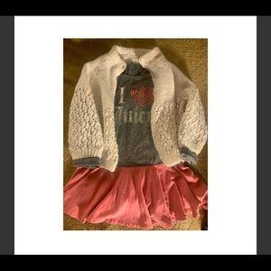 Juicy Couture Dress & Cotton Knit Sweater, 24 mo.